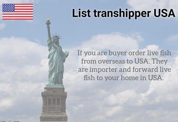 List transhipper USA