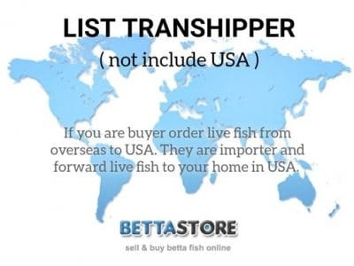 Transhipper List (not include USA)