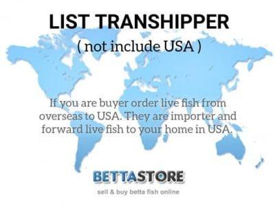 Transhipper List (not include USA)
